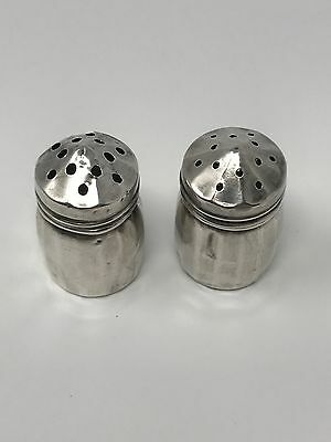 Vintage Sterling Silver Mini Small Salt & Pepper Shakers