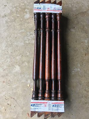 """20 Antique 22"""" Pine????  Wood Stair Staircase Porch Railing Balusters Spindles"""