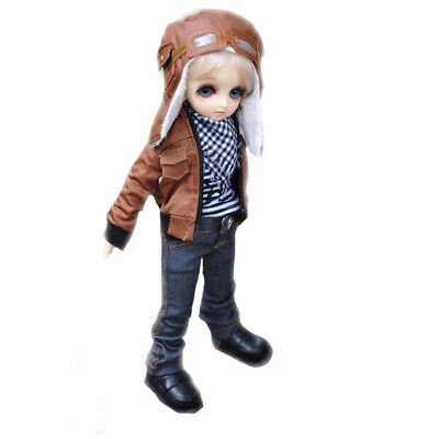 [wamami] 774# Brown Jacket/Jeans/Hat/Suit/Outfit For SD DOD AOD 1/3 BJD Boy Doll