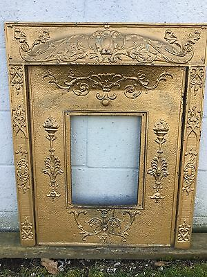 Arts Craft Deco Victorian Cast Iron Fireplace Mantel Surround Summer Insert