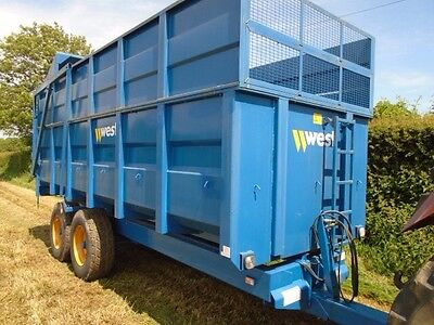 West 12 Ton Silage Grain Tipping Trailer Grass Muck Dump Low tractor (inc VAT)