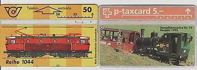 Lot de 2 Telecartes Train / Locomotive