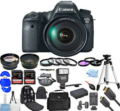 Canon Eos 6D 20.2MP Dslr with Canon EF 24-105mm f/3.5-5.6 Is STM Lens + ACCS