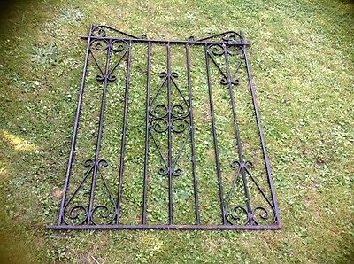 VINTAGE WROUGHT IRON SINGLE GARDEN GATE Black
