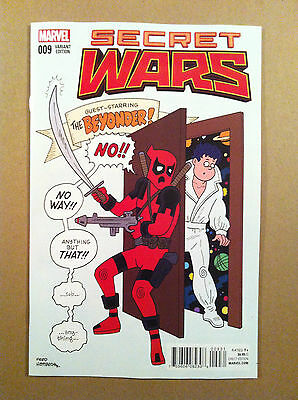 Secret Wars (2015) #9 Fred Hembeck 1:25 Classic Variant Deadpool 1St Printing Nm