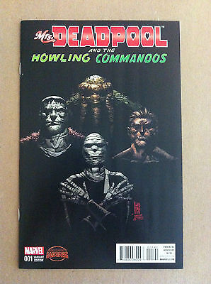 Mrs. DEADPOOL & the HOWLING COMMANDOS #1 GUISEPPE CAMUNCOLI 1:20 VARIANT NM 1ST