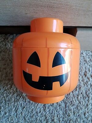 Lego Storage Head Pumkin - Good Used Condition - Free Delivery