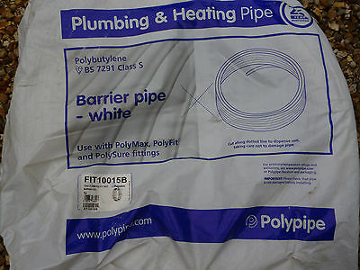Polypipe White Barrier Pipe