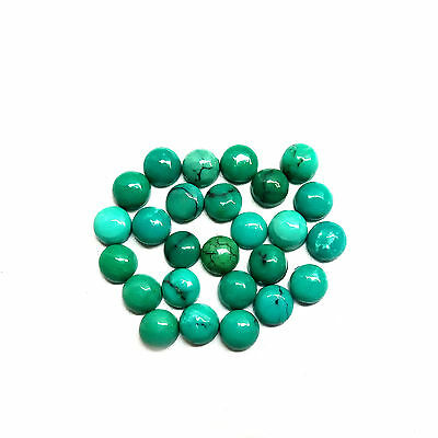 25 Pcs Wholesale Lot Natural Turquoise 3X3 Mm Round Loose Gemstone Cabochon