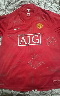 2008 champions league winning manchester united signed shirt