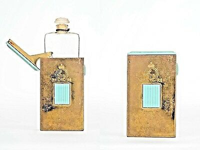 Vintage French Art Deco Small Glass Perfume Bottle (by COTY)