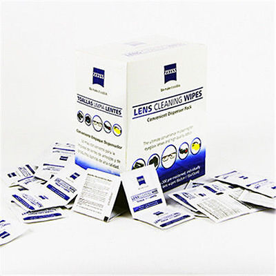 200pcs Zeiss Pre-moistened Lens Cleaning Wipe Glasses Optical Camera Cleaner