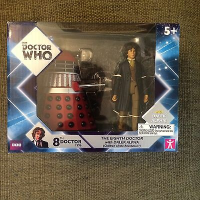 Eighth Doctor Dalek Alpha Two Pack Dr Who 5 Inch Action Figure