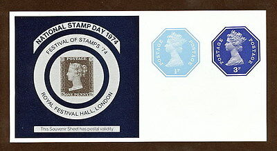SMAA_285 UK Great Britain 1974 MNH COLOR SOUVENIR SHEETS STAMP DAY