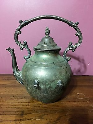 Vintage Wm Rogers Tipping Tea Pot With Hinged Lid - Eagle and Star Mark
