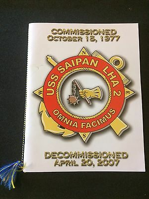 """2007 - USS SAIPAN (LHA-2) -  """"Decommissioned"""" Cruise Book - Excellent"""