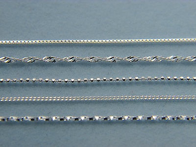 925 Solid Sterling Silver Chains Necklace (Various Designs to Choose From)