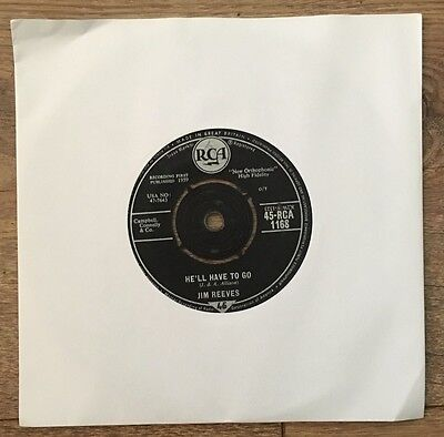 """Jim Reeves- He'll Have To Go- 7"""" Vinyl Record"""