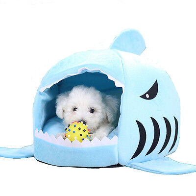 Newest Waterproof BottomShark Bed for Small Cat Dog Cave Bed Removable Cushion