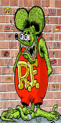 6ftx3ft RAT FINK HEAVY VINYL BANNER-HOT ROD-BIKE-GARAGE-SHOP-CAR SHOW PRIZE-NEW!