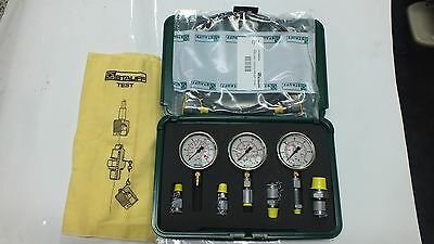 Hydraulic 3 Gauge 12 Pc PressureTest Kit STAUFF GERMAN MADE 0-100,0-250,0-600Bar