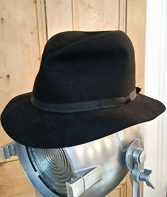 Vintage Lock & Co black Trilby Hat