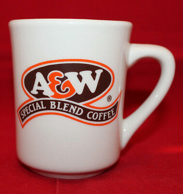 A&W Special Blend Coffee White China Mug Cup Tea English & French Vintage (A)