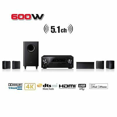 Pioneer HTP-072 5.1 Ch 600W 3D HD AV Receiver Home Cinema System 4K - Read