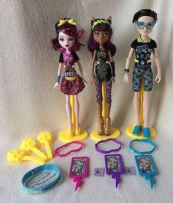 Monster High Freaky Fusion Save Frankie Dolls Lot of 3
