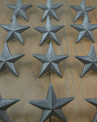 Cast Iron Nail Stars Set of 24 Craft Western Decor Texas Lone Star 2-5/8""