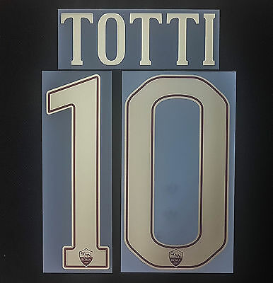 AS Rom Totti 2016/2017 Nameset Toppa Serie A Italy Flock Patch AS Roma Derby