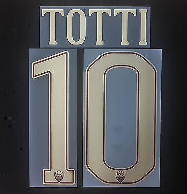 AS Rom Totti 2016/2017 Nameset Toppa Serie A Italy Flock Patch AS Roma