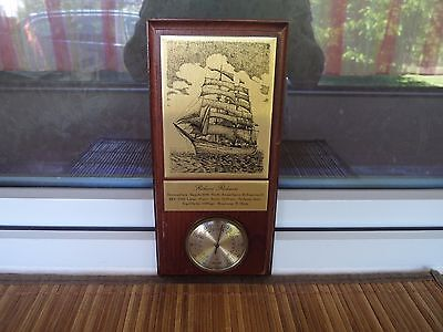 Altes Thermometer - Holz - Messing - Rickmer Rickmers