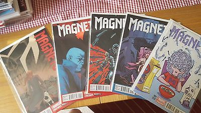 Marvel Comics: Magneto #1-#5 bagged and boarded