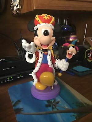 Mickey Mouse King Of Mardi Gras Figurine Porcelain