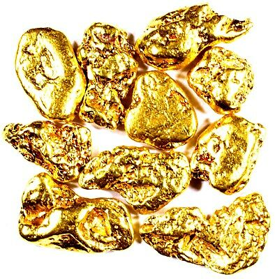 10 Piece Lot Alaskan Yukon Bc Natural Pure Gold Nuggets Free Shipping (#l251)