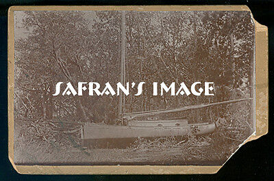 Vintage Ship Photo YACHT GLANCE Gaff Rig Nautical Photo Collectors MUST L@@K