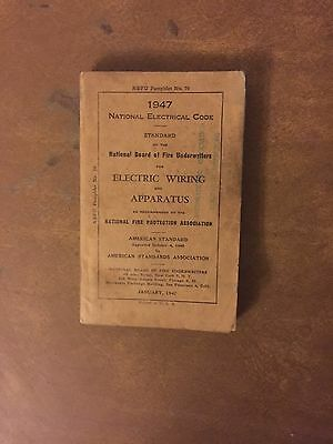 Rare Vintage 1947 National Electric Code Wiring Apparatus Book Free Shipping