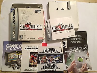 Box Instructions & Paperwork Only Us Nintendo Gambeboy Advanvce Final Fantasy Vi