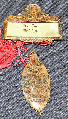 1925 International Asso FIRE ENGINEERS Convention Badge Louisville Ky MUST L@@K