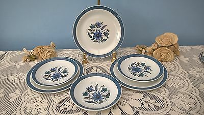 ALFRED MEAKIN COUNTRY SIDE PATTERN 1950s ~ 3 x SIDE PLATES, 3 x SAUCERS
