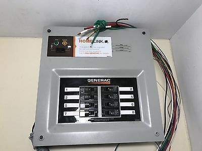 "Generac HomeLink Prewired Manual Transfer Switch- 30 Amps, 8 Circuits 6852 ""NNB"""