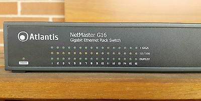 Atlantis Net Master G16 - Gigabit Ethernet Rack Switch