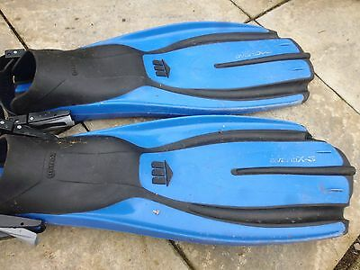 A Pair of Blue Mares Diving Fins