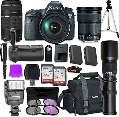 Canon Eos 6D Dslr Camera Deluxe Bundle with EF 24-105mm f/3.5-5.6 Is STM Lens