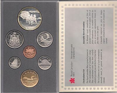 Canada 1992 Double Dollar Proof Set - 7 Coins -Silver Dollar - Stagecoach.