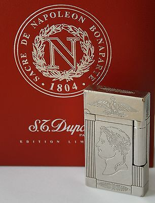 "S.t.dupont Feuerzeug ""napoleon"" Platinum Linie 2 - Limited Edition 2003 Lighter"