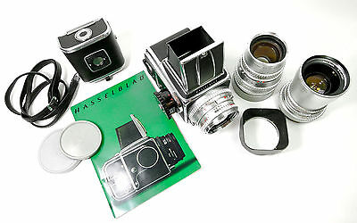 Hasselblad 500C Film Camera, 80 50 & 150 Zeiss Lenses, A12&24 Film Back, & More