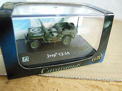 CARARAMA DIECAST No 191ND USA JEEP CJ-2A IN GREEN NEW  BOXED  OO GAUGE  D39