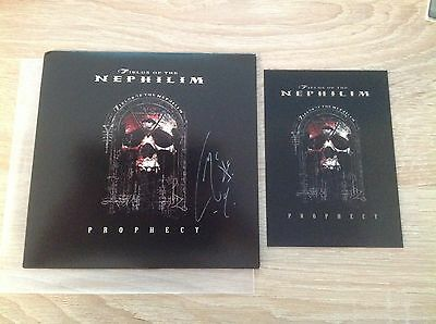 """Fields Of The Nephilim - Prophecy 7"""" Single Red Vinyl **Signed**"""